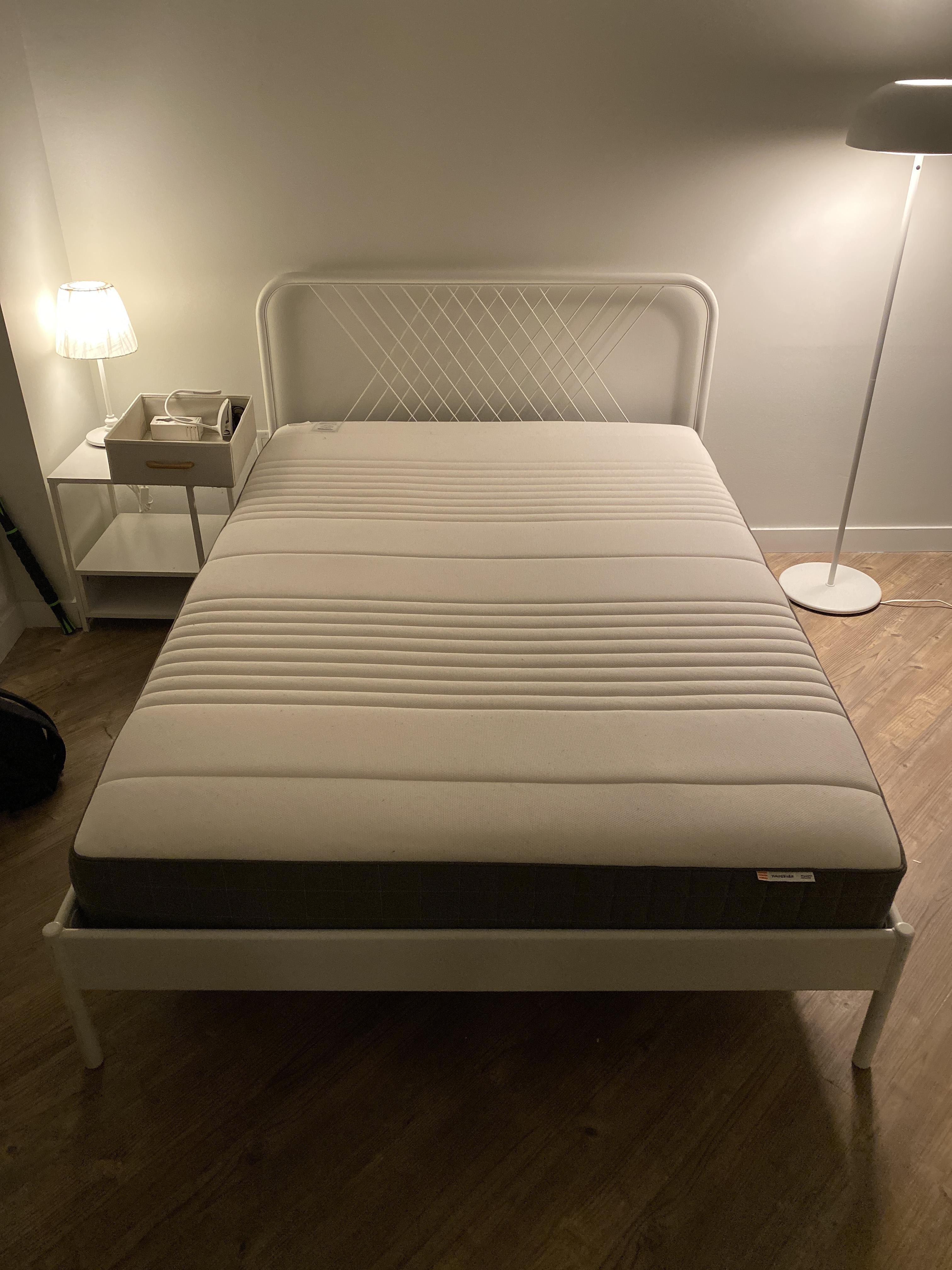 Ikea White Metal Full-Size Bed