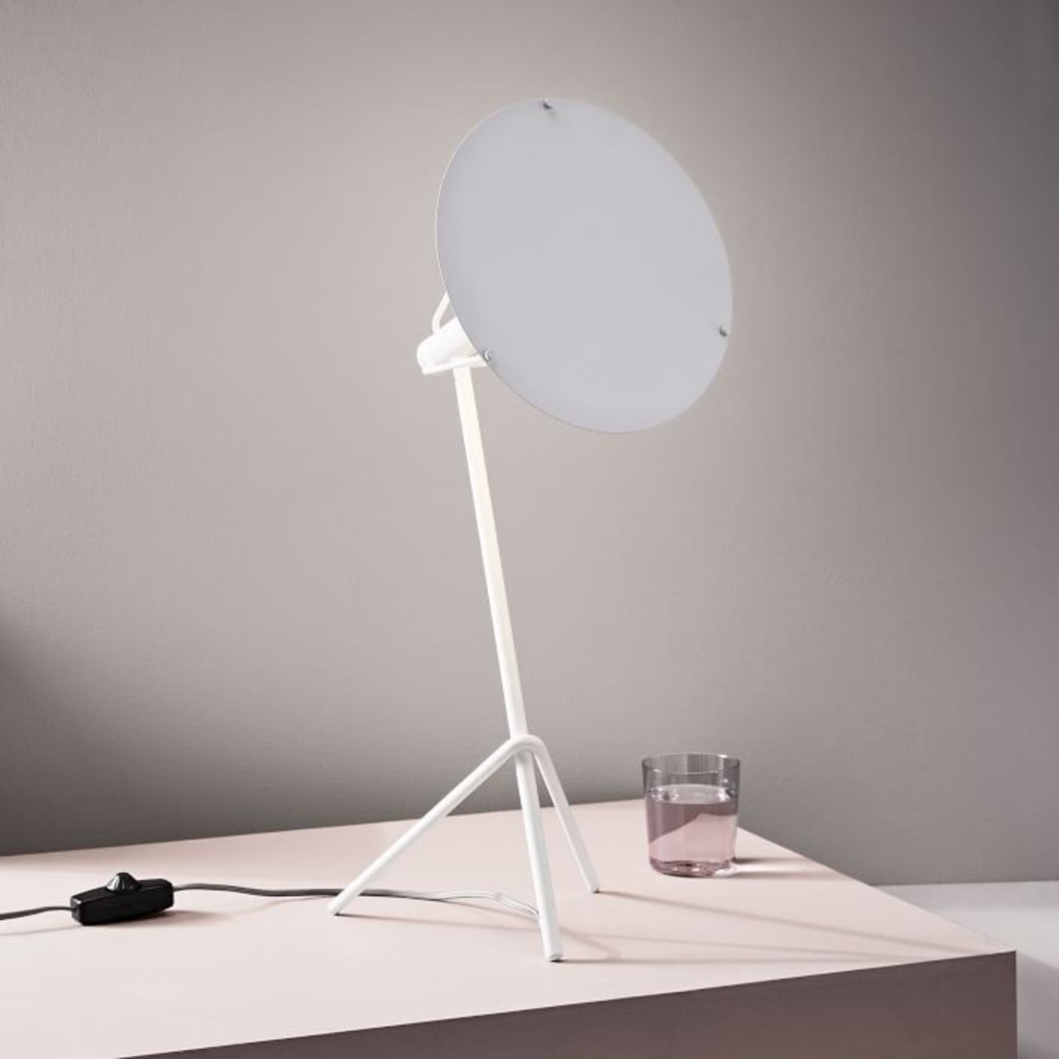 West Elm Powell LED Table Lamp in Satin White - image-3