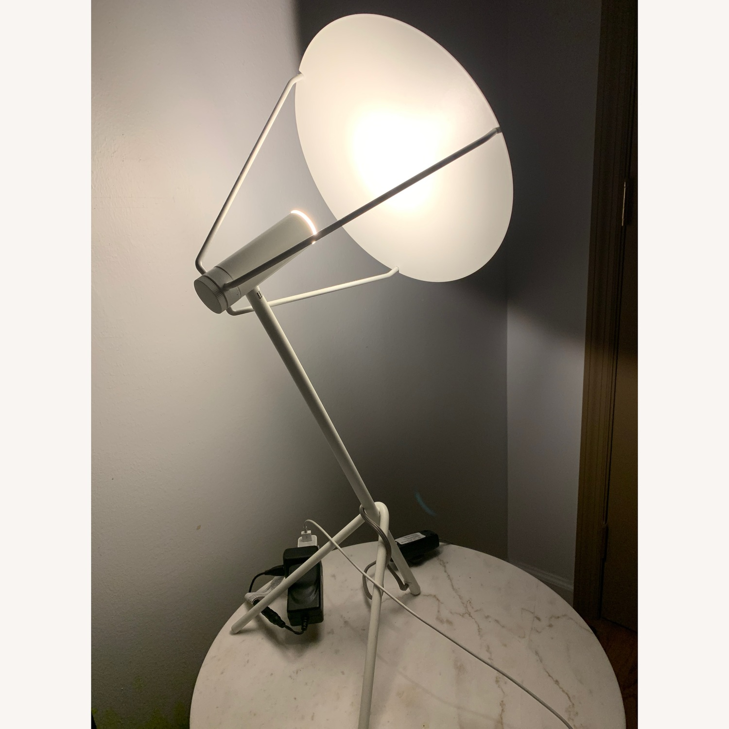 West Elm Powell LED Table Lamp in Satin White - image-5