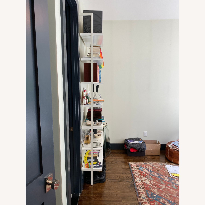 Cb2 Stairway White Wall Mounted Bookcase Aptdeco