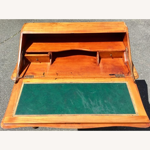 Used 1940s French Country Desk w/ Leather Top for sale on AptDeco