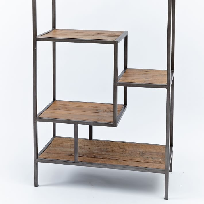 West Elm Reclaimed Pine + Iron Bookcase
