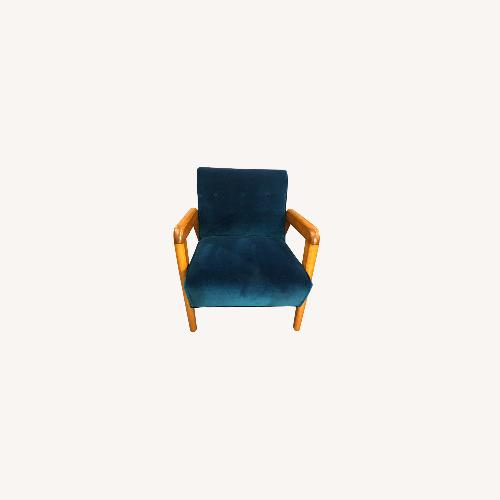 Used Thonet Vintage Velvet Blue Club Chairs for sale on AptDeco