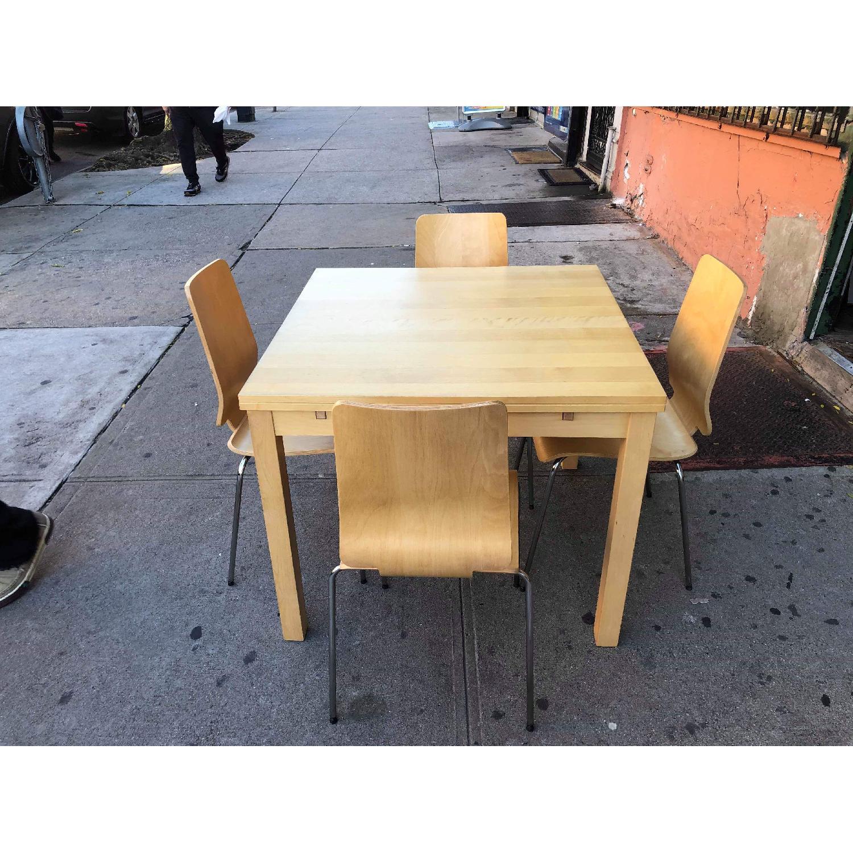 Ikea Gilbert Expandable Table w/ 4 Chairs - AptDeco
