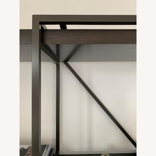 Century Furniture Black Metal & Wood Bookshelf