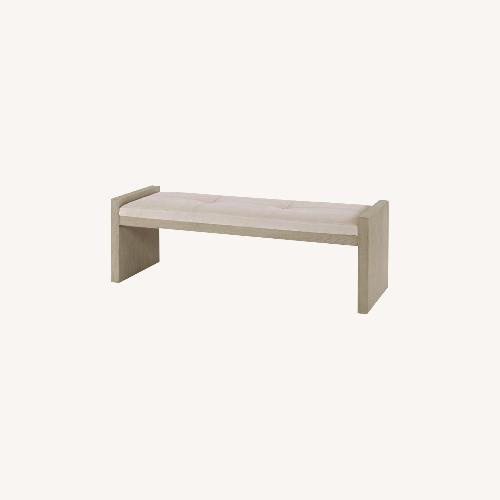 Century Furniture Leather Upholstered Bench