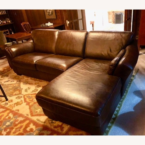 Bloomingdales Chateau D'Ax Italian Leather Sectional Sofa