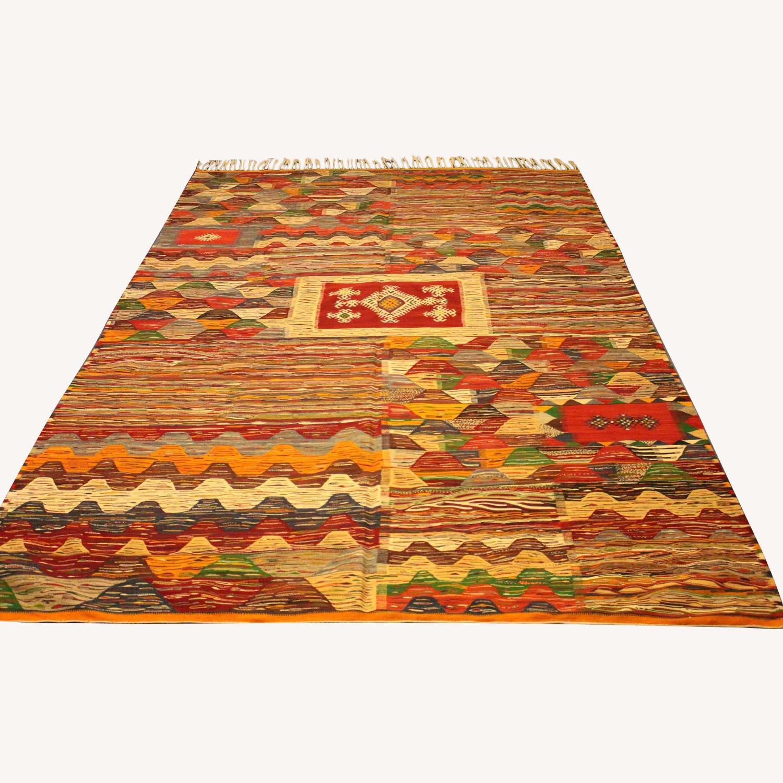 Kilim Rugs Handmade Moroccan Wool Kilim Rug - image-0