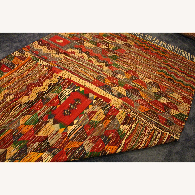 Kilim Rugs Handmade Moroccan Wool Kilim Rug - image-3