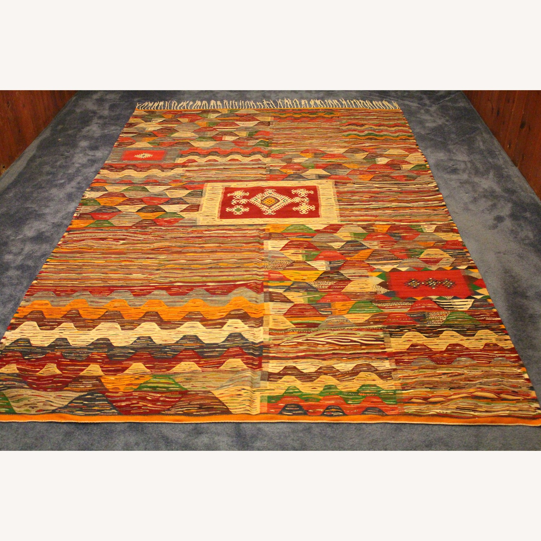 Kilim Rugs Handmade Moroccan Wool Kilim Rug - image-2