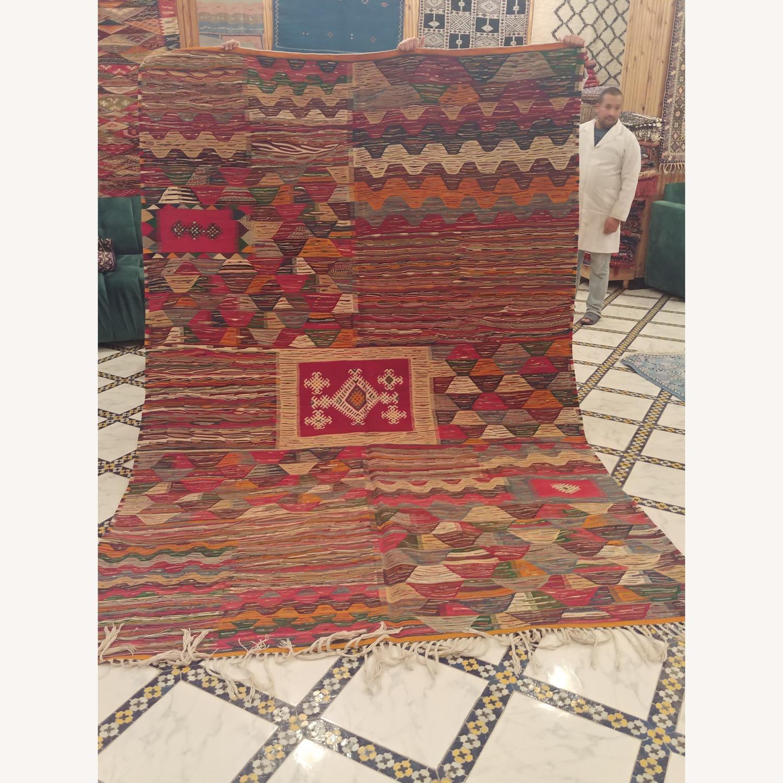 Kilim Rugs Handmade Moroccan Wool Kilim Rug - image-1