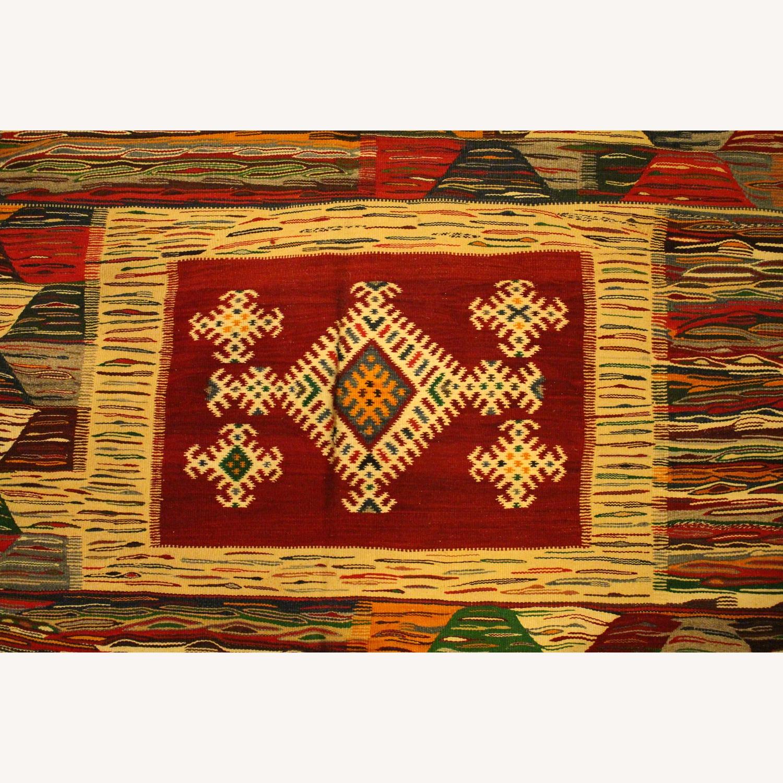 Kilim Rugs Handmade Moroccan Wool Kilim Rug - image-4