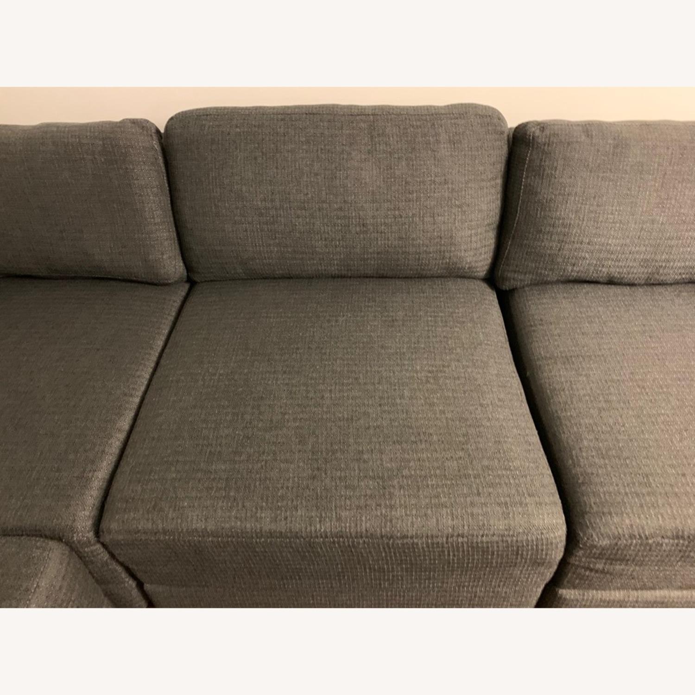 Macy\'s 4 Piece Charcoal Grey Modular Sectional Sofa