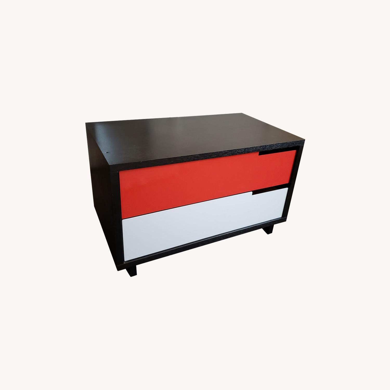Blu Dot Modulicious Black White & Red Dresser - image-0