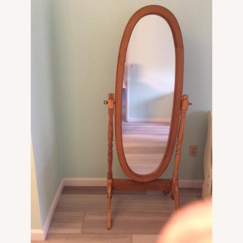Full Length Swivel Oval Mirror - image-1