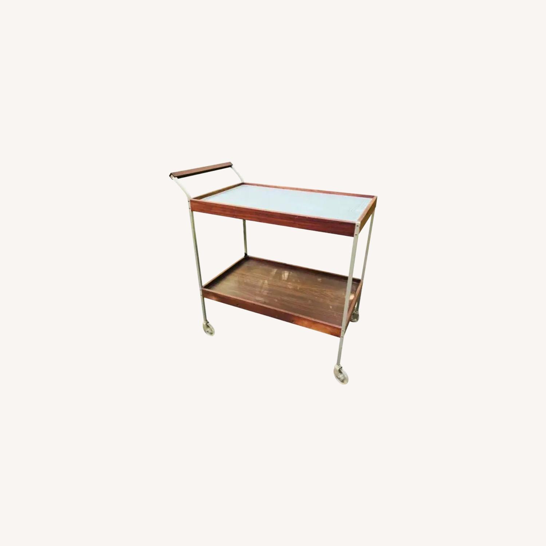 Mid Century Teak Bar Cart - image-10