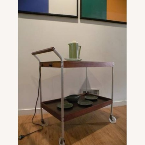 Used Mid Century Teak Bar Cart for sale on AptDeco