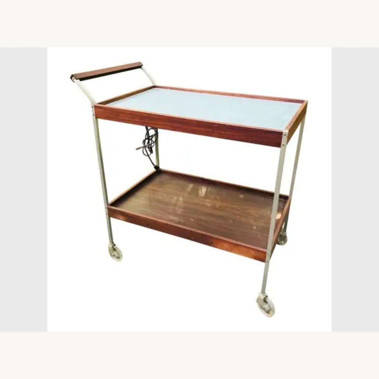 Mid Century Teak Bar Cart - image-1