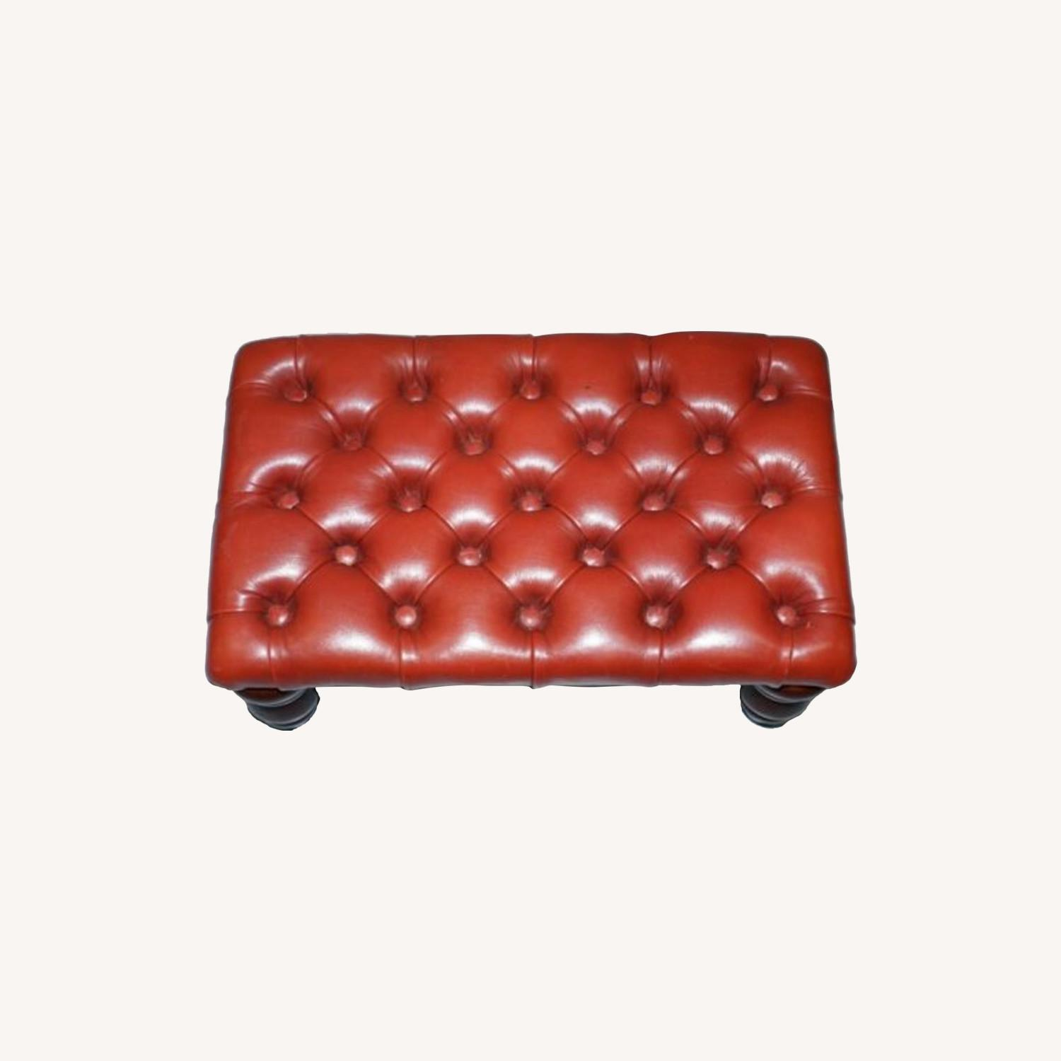Vintage Handcrafted Oxblood Chesterfield Footstool - image-0