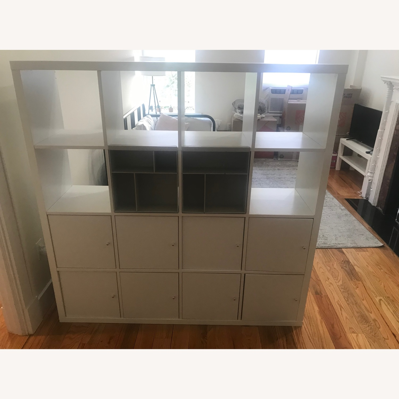 Ikea Kallax White Bookcase Room Divider