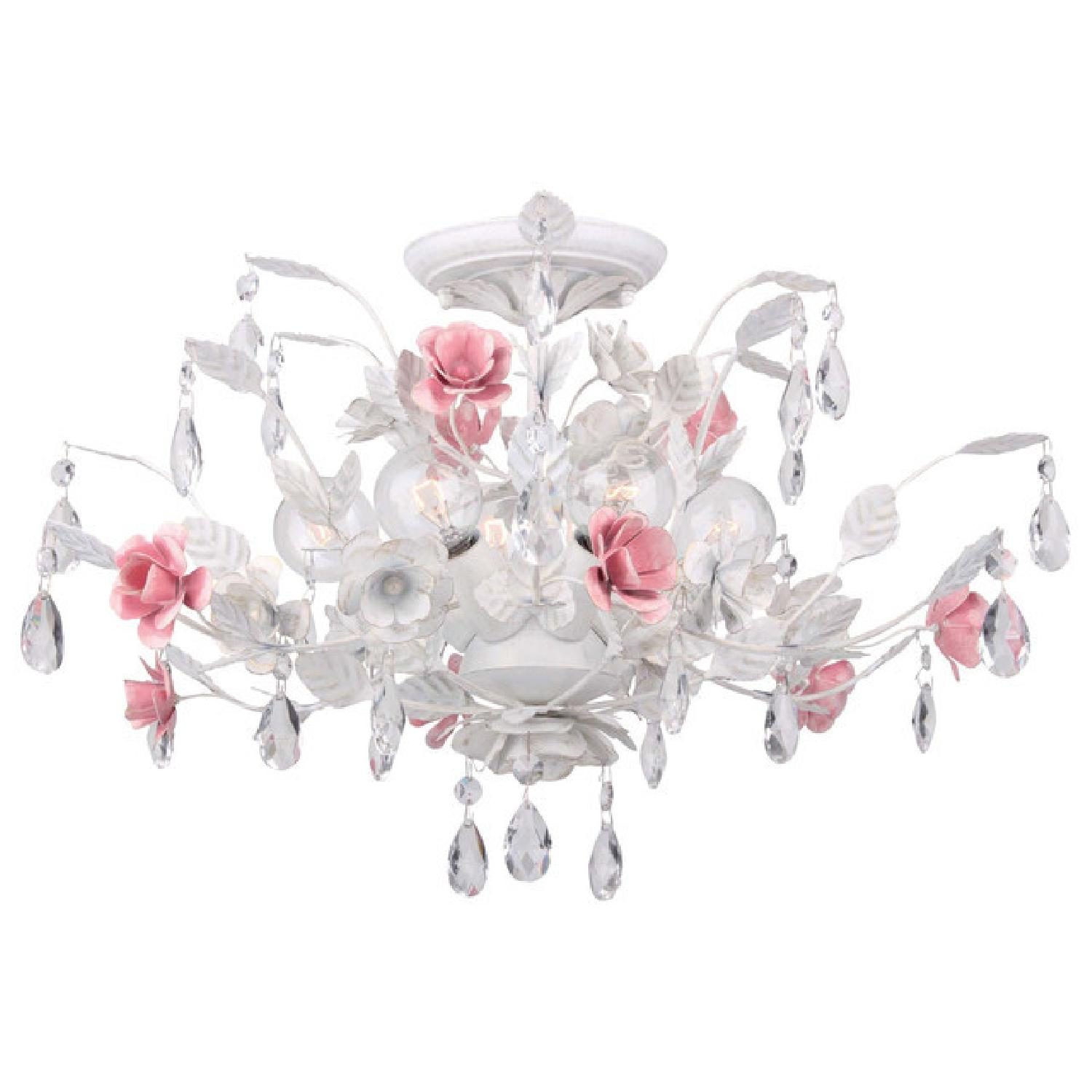 Rose & Crystal Flush Light