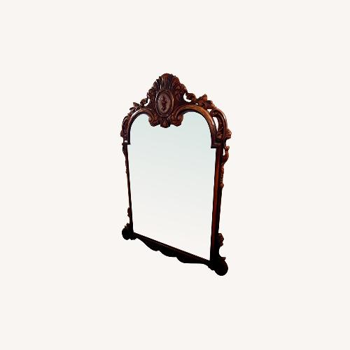 Used Vintage French Style Carved Walnut Large Mirror for sale on AptDeco