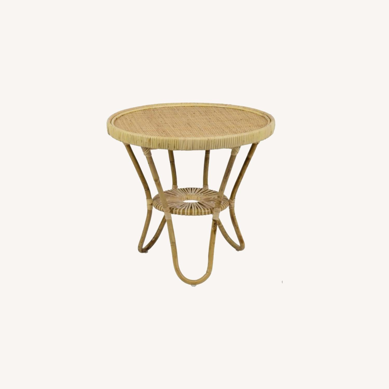 Selamat Designs Libra Side Table in Natural Rattan