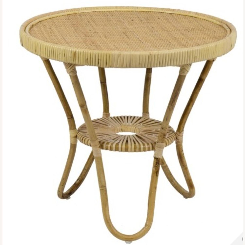 Selamat Designs Libra Side Table in Natural Rattan - image-1