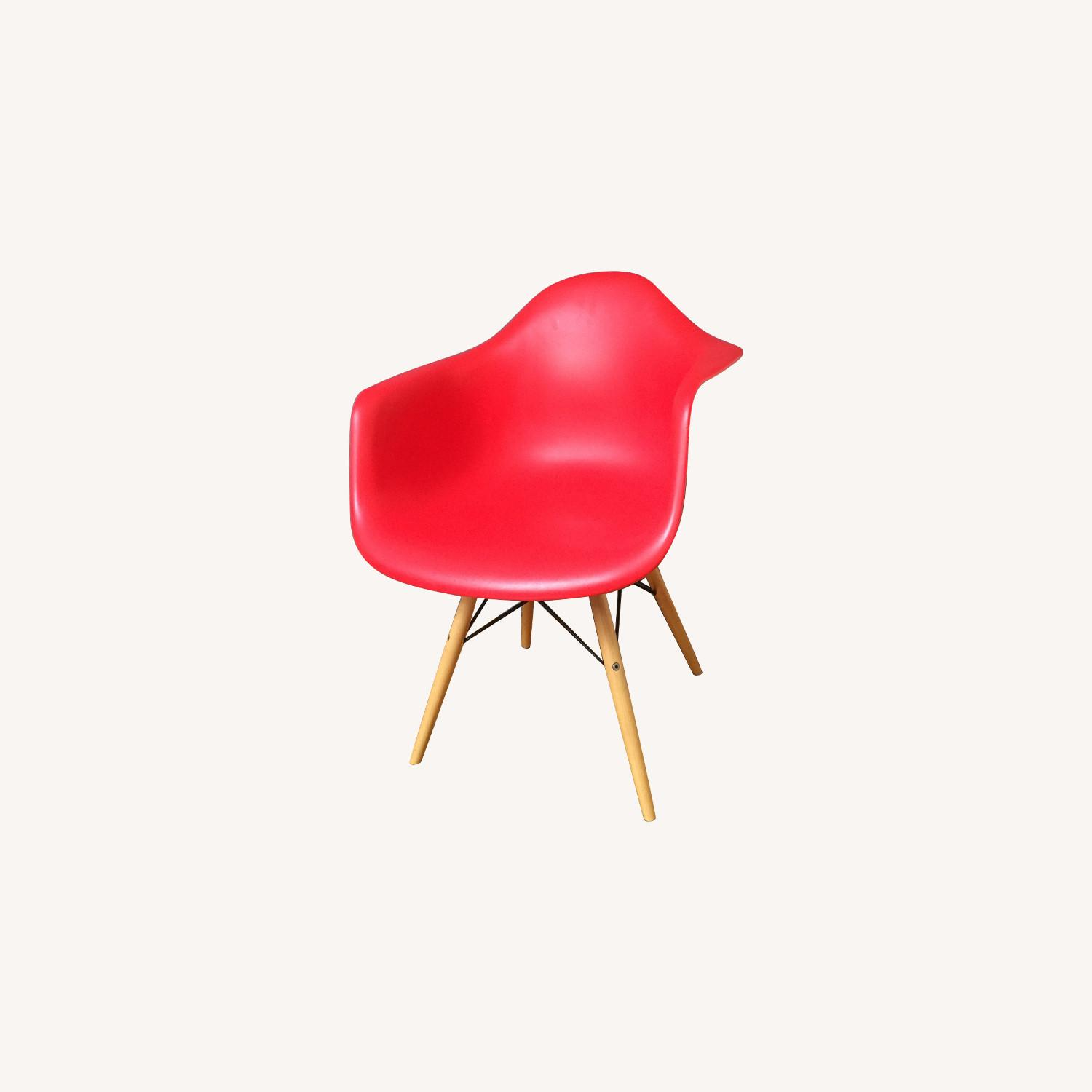 Replica Eames Molded Plastic Red Armchair - image-0