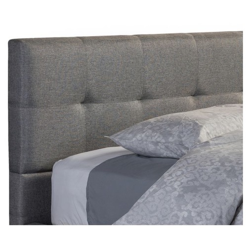 Regatta Modern Gray Upholstered Queen Platform Bed