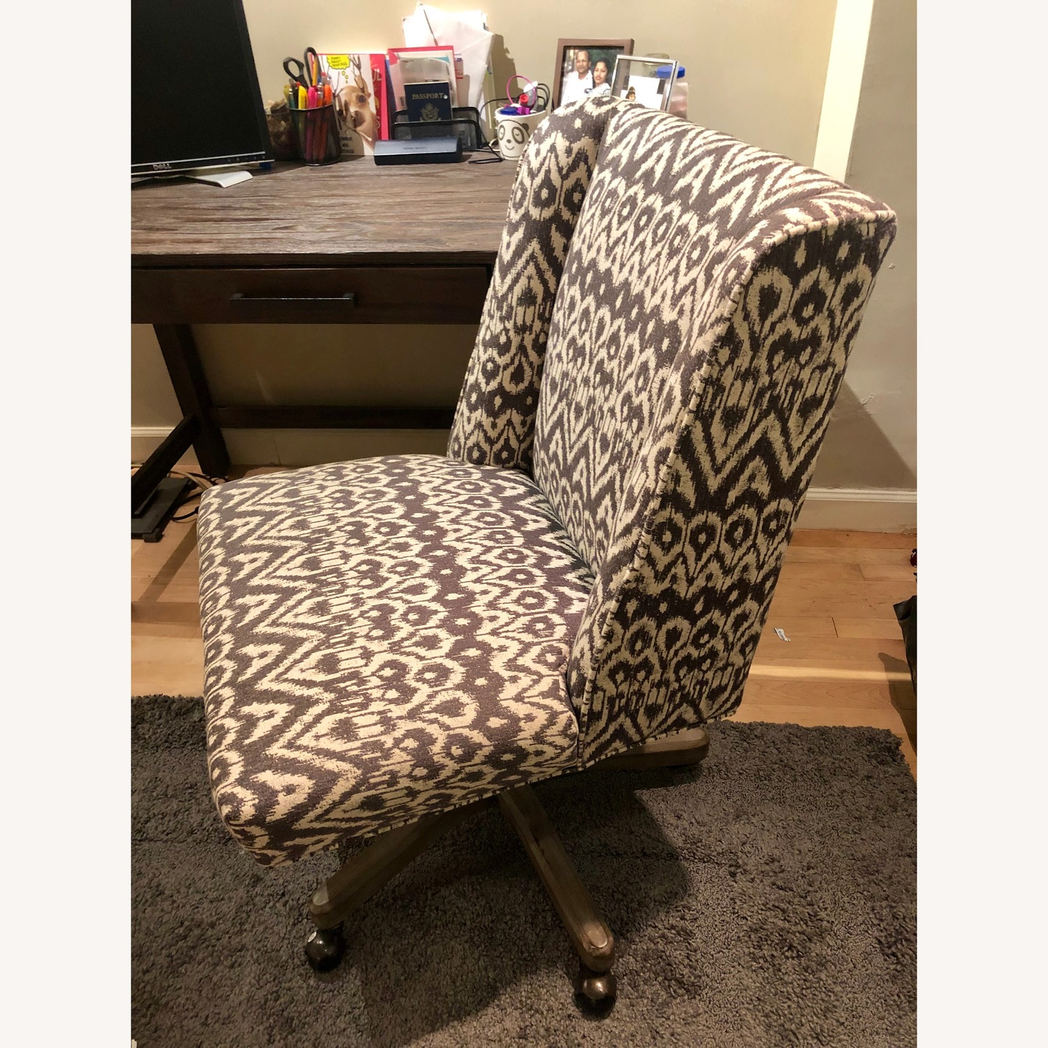 Decals For Baby Room, World Market Driftwood Ikat Ava Upholstered Office Chair Aptdeco