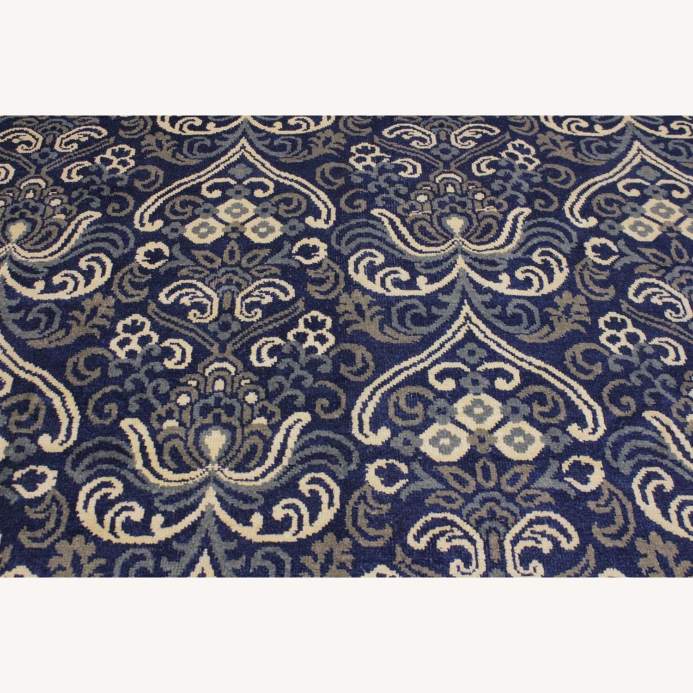 Arshs' Fine Rugs Modern Modesta Blue/Ivory Wool & Silk Rug - image-6