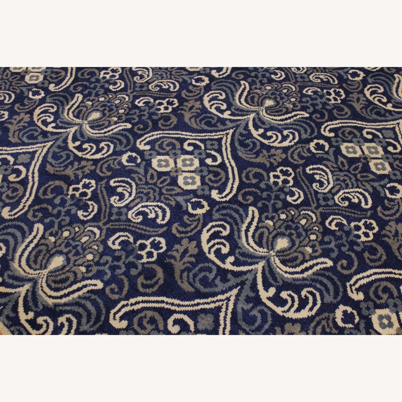 Arshs' Fine Rugs Modern Modesta Blue/Ivory Wool & Silk Rug - image-5