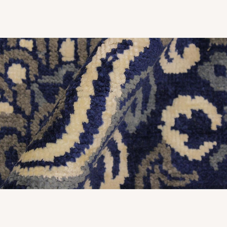 Arshs' Fine Rugs Modern Modesta Blue/Ivory Wool & Silk Rug - image-1