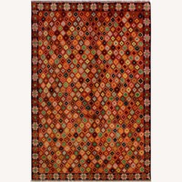 Balouchi Arya Antione Orange/Black Wool Rug