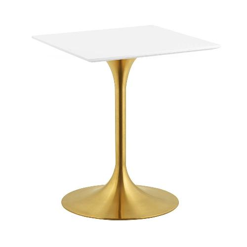 Used Modway Lippa White Lacquer Dining Table for sale on AptDeco