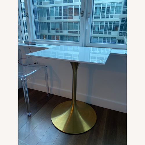 Modway Lippa White Lacquer Dining Table