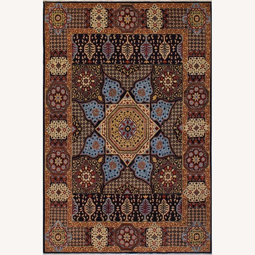 Used Arshs' Fine Rugs Mamluk Antonio Blue/Ivory Wool Rug for sale on AptDeco