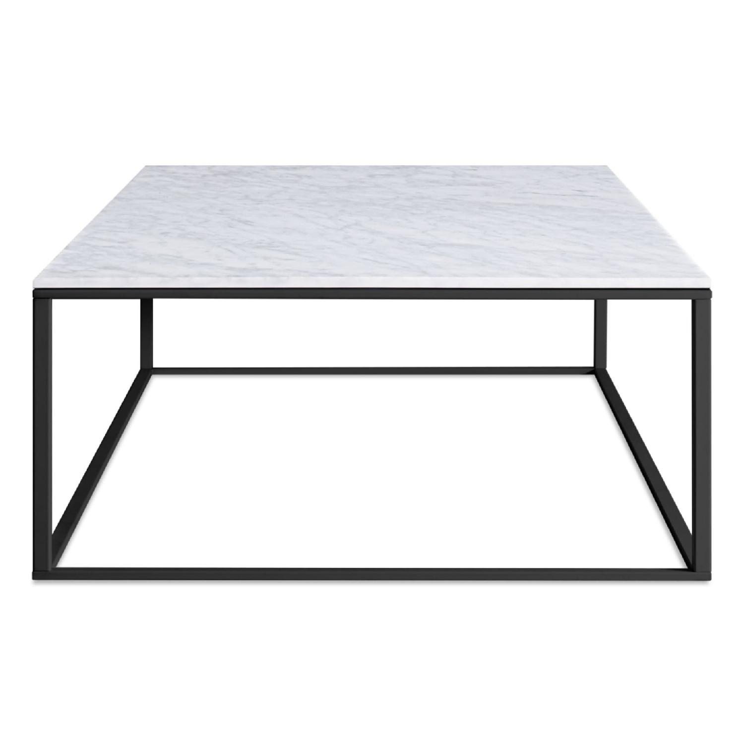 Blu Dot Minimalista Marble Top Coffee Table - image-0