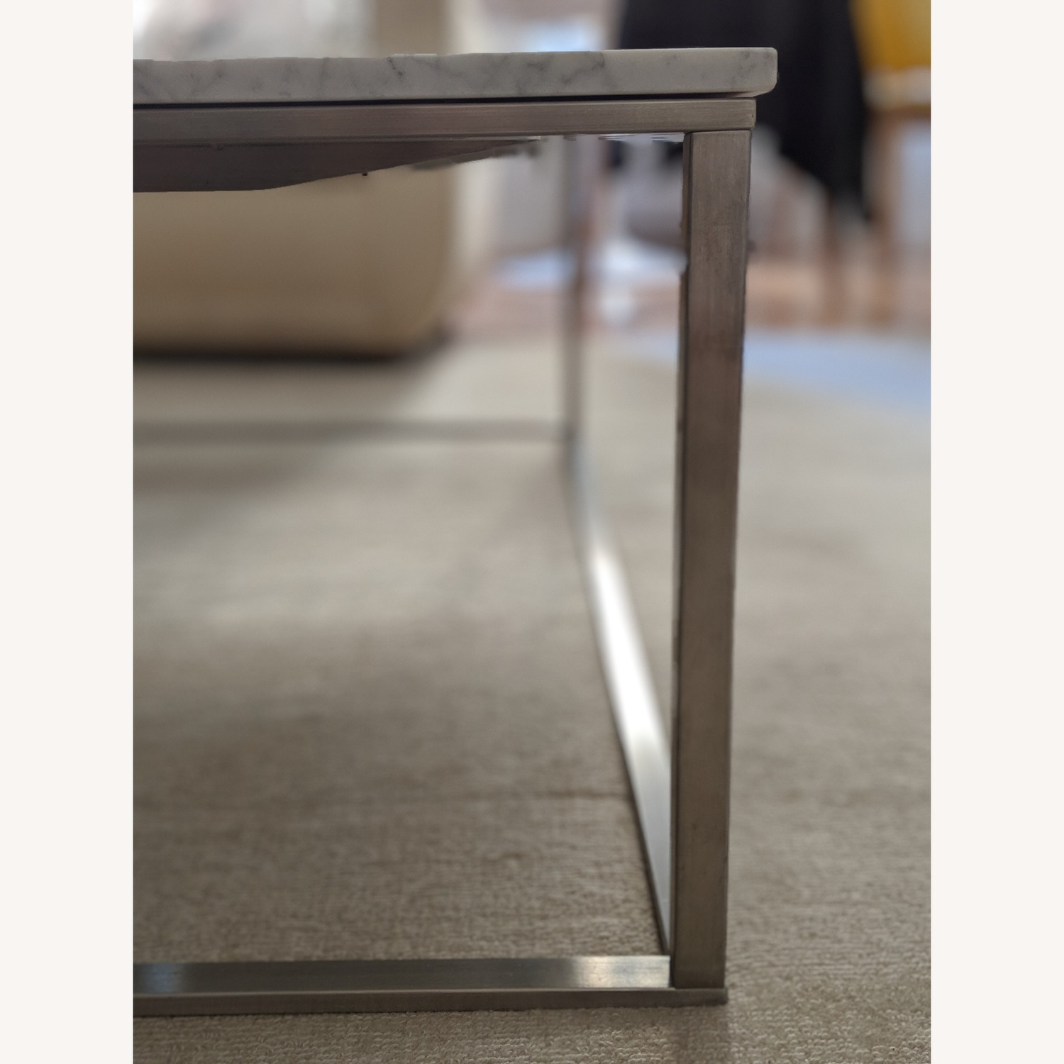 Blu Dot Minimalista Marble Top Coffee Table - image-3