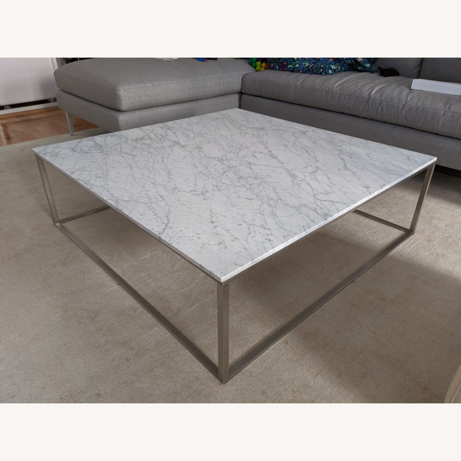 Blu Dot Minimalista Marble Top Coffee Table - image-1