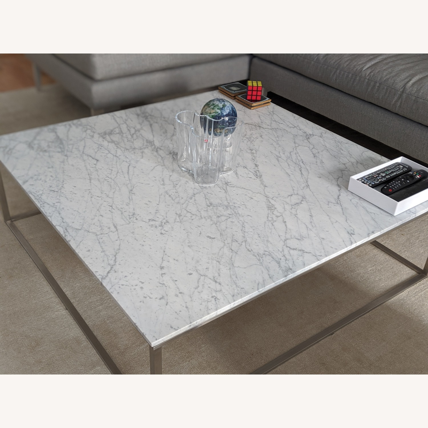Blu Dot Minimalista Marble Top Coffee Table - image-2