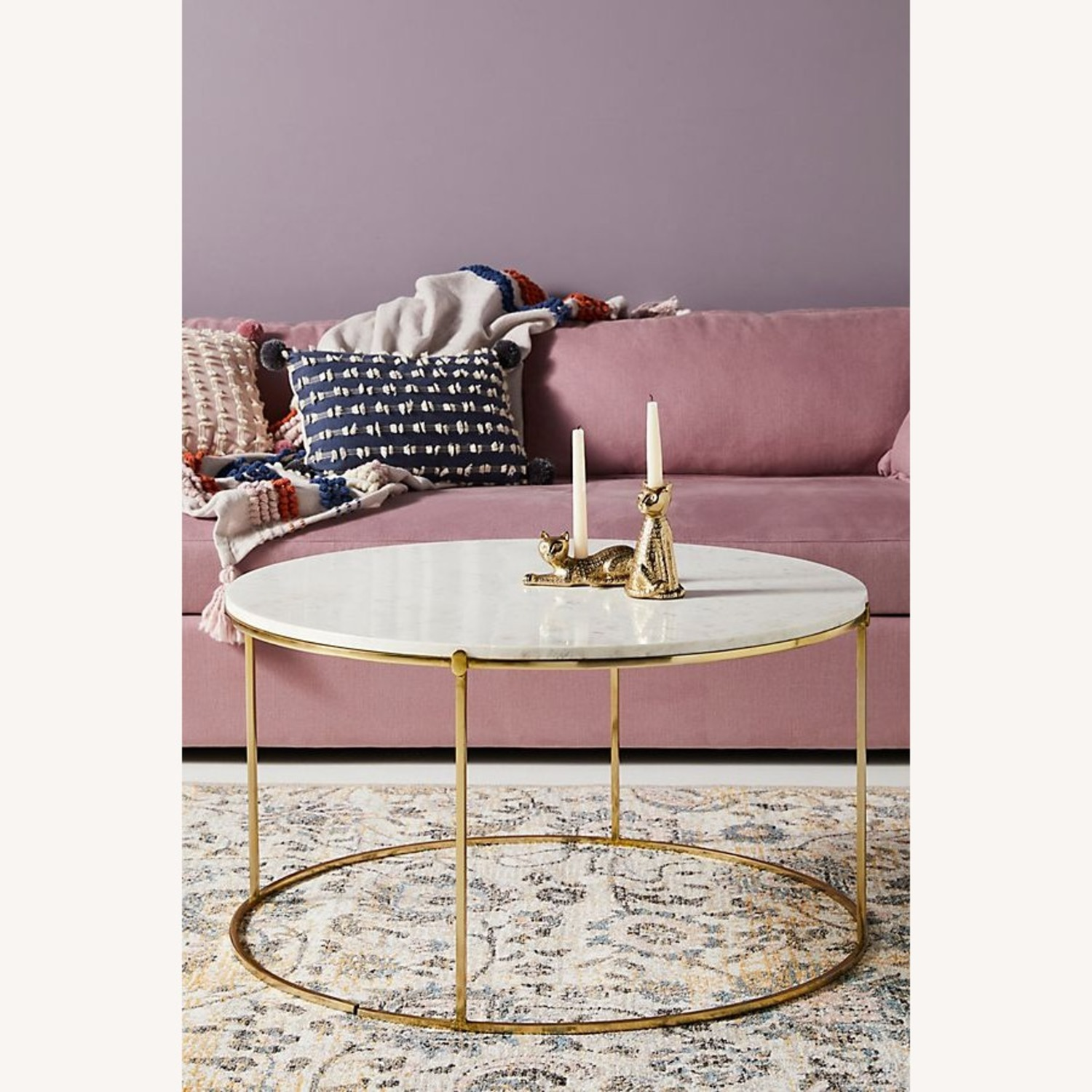 Anthropologie Marble & Brass Coffee Table