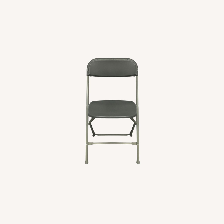 Ikea Foldable Grey Plastic Chairs