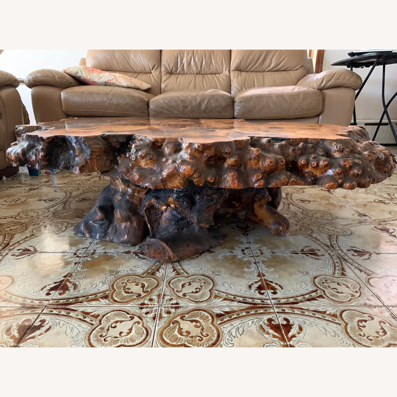 Vintage Redwood Coffee Table - image-1