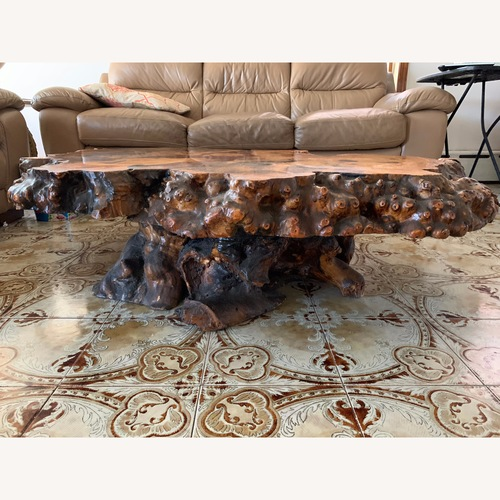 Used Vintage Redwood Coffee Table for sale on AptDeco