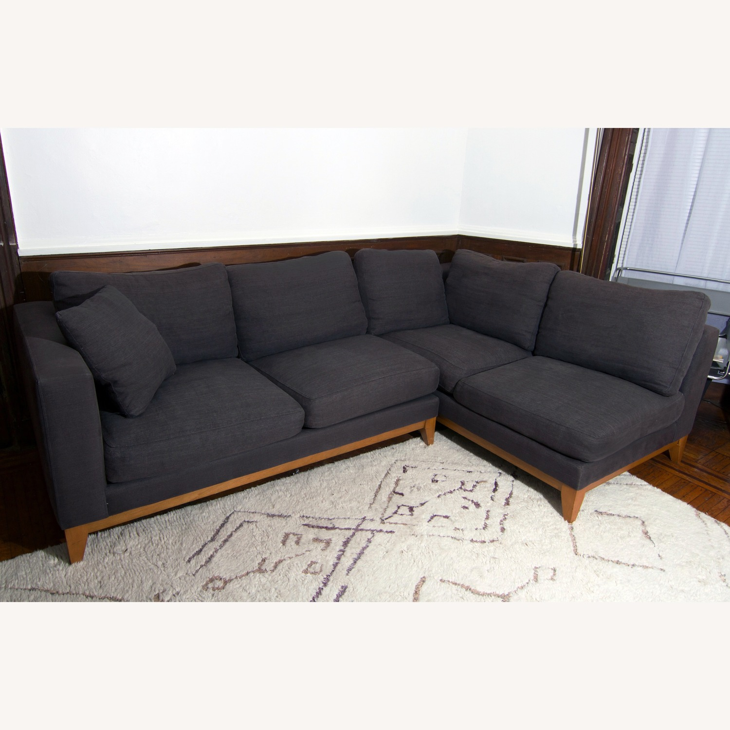Design Within Reach Grey Sectional Sofa - image-2