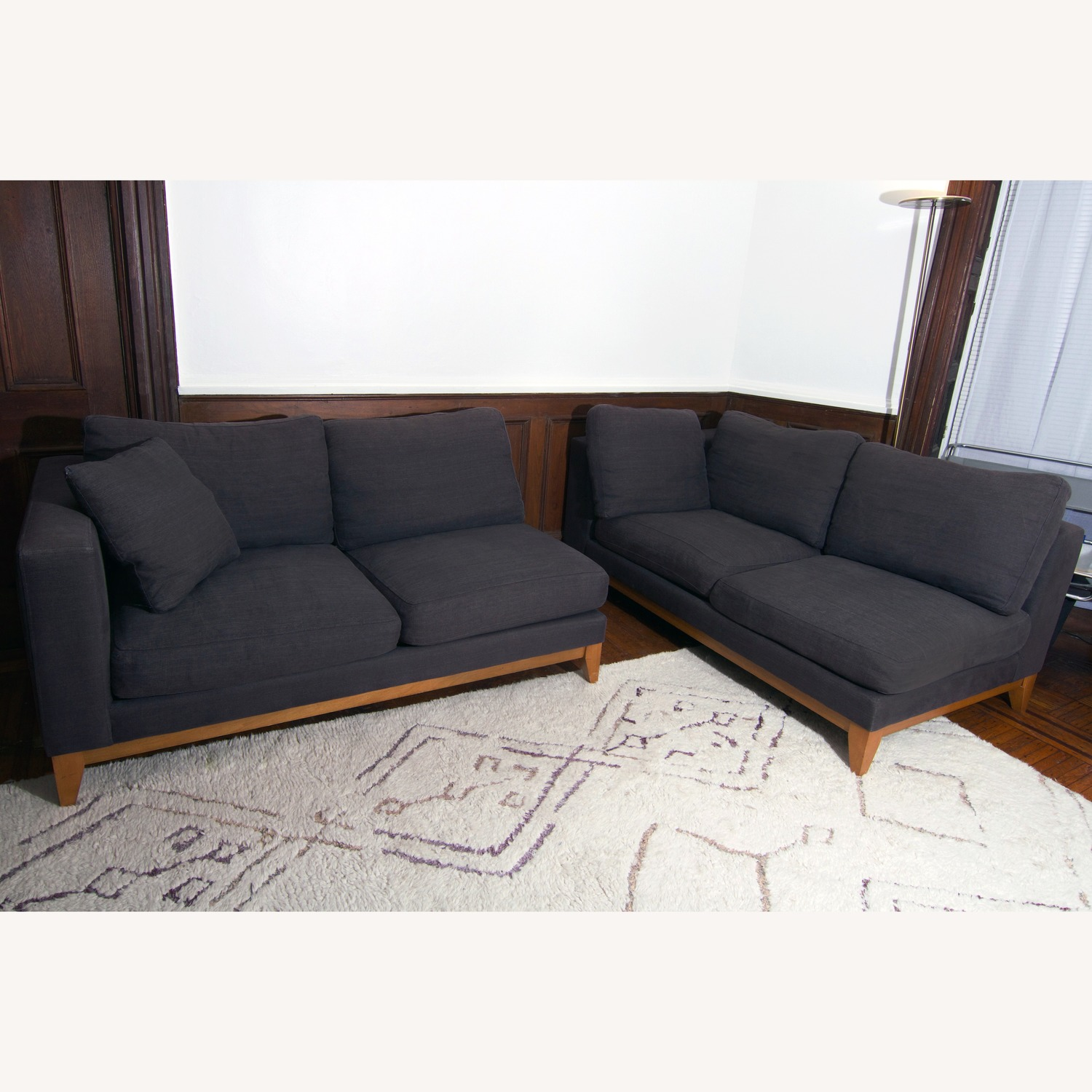 Design Within Reach Grey Sectional Sofa - image-1