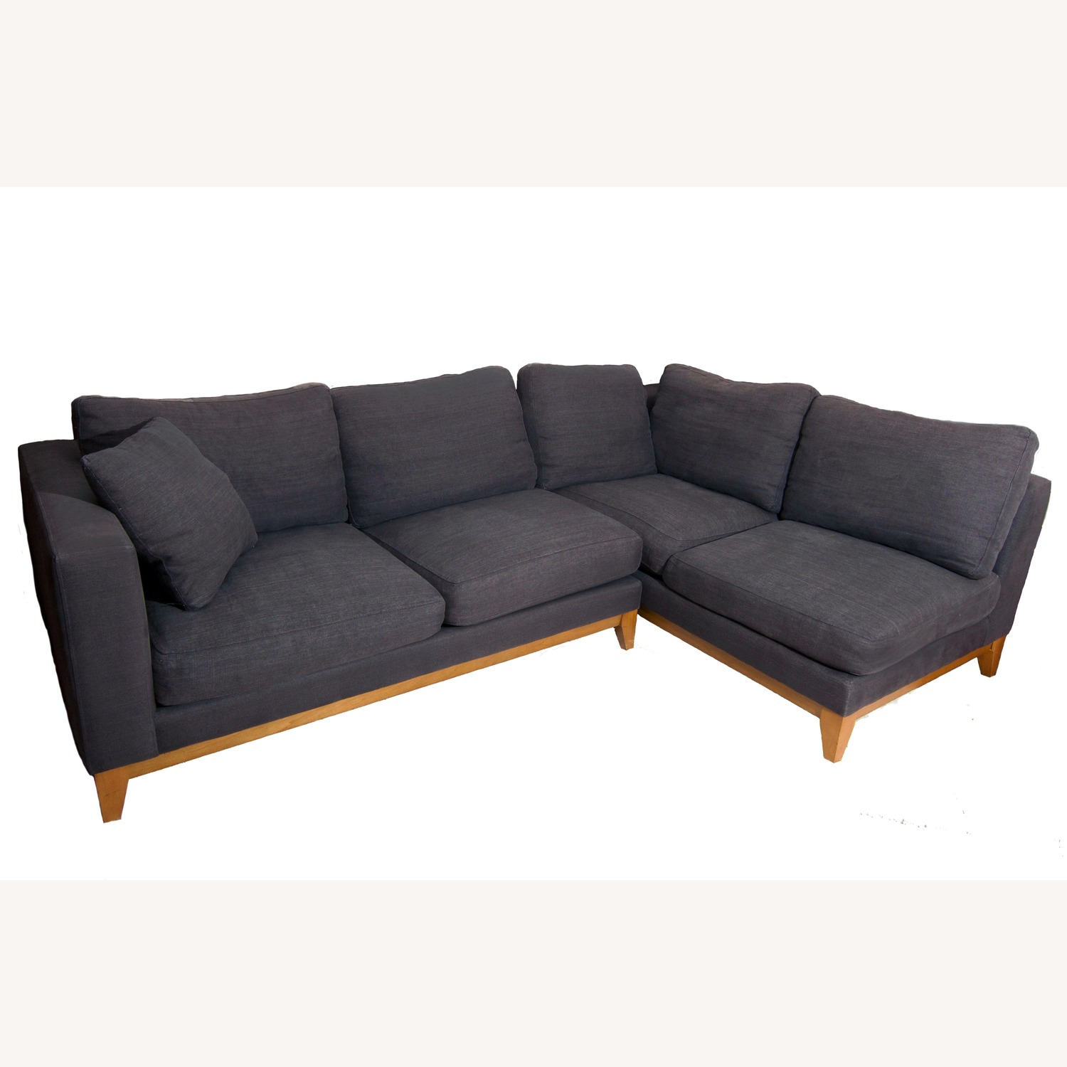 Design Within Reach Grey Sectional Sofa - image-0