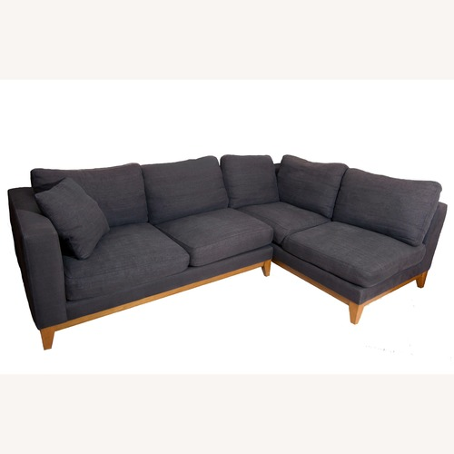 Design Within Reach Grey Sectional Sofa